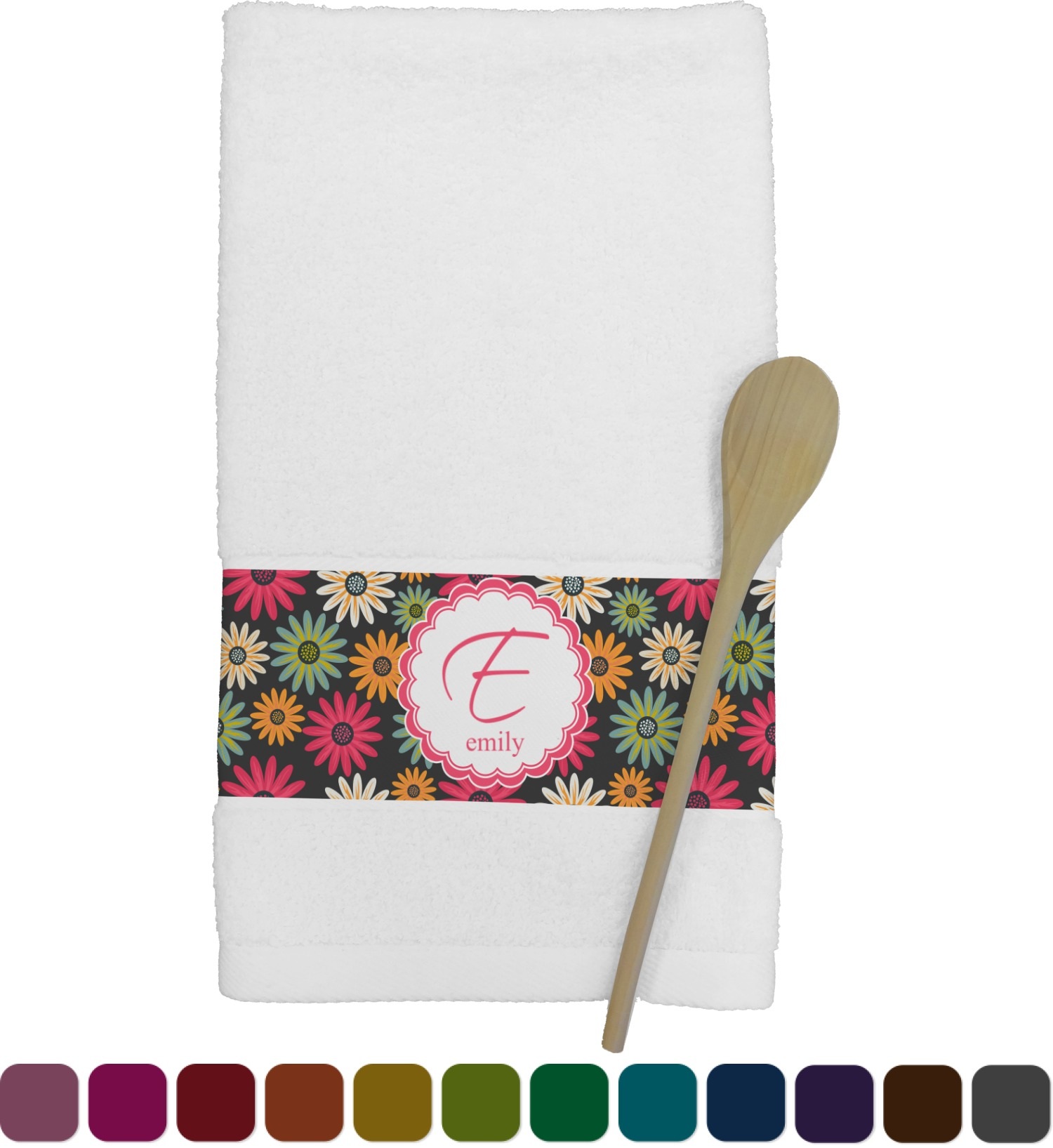 personalized kitchen towels how to remodel a daisies towel youcustomizeit