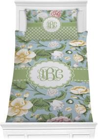 Vintage Floral Comforter Set - Twin (Personalized ...