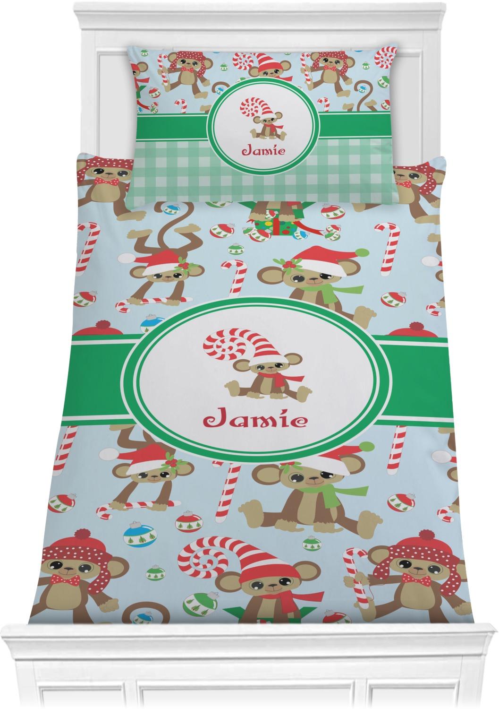 Christmas Monkeys Comforter Set
