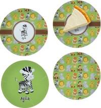 Safari Set of 4 Glass Appetizer / Dessert Plate 8 ...