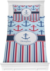 Anchors & Stripes Comforter Set - Twin (Personalized ...