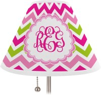Pink & Green Chevron Lamp Shade - Medium (Personalized ...