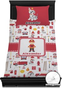Firefighter Duvet Cover Set (Personalized) - YouCustomizeIt