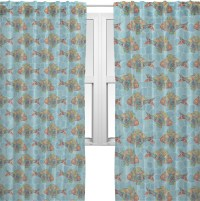 """Mosaic Fish Sheer Curtains - 60""""x84"""" (Personalized) - RNK ..."""