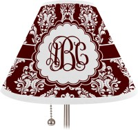 Maroon & White Lamp Shade - Large (Personalized) - You ...