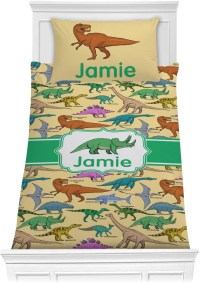 Dinosaurs Comforter Set - Twin XL (Personalized ...