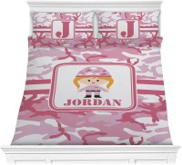 Pink Camo Comforter Set - Full / Queen (Personalized ...