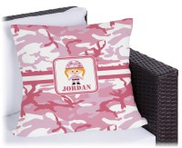 Pink Camo Outdoor Pillow (Personalized) - YouCustomizeIt