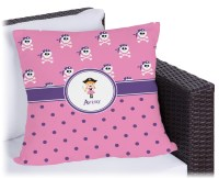 """Pink Pirate Outdoor Pillow - 20"""" (Personalized) - RNK Shops"""