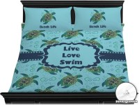 Sea Turtles Duvet Cover Set - King (Personalized ...