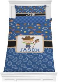 Blue Western Comforter Set
