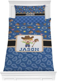 Blue Western Comforter Set - Twin (Personalized ...