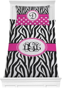 Zebra Print Comforter Set - Twin XL (Personalized ...