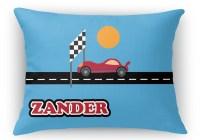 """Race Car Rectangular Throw Pillow - 12""""x16"""" (Personalized ..."""