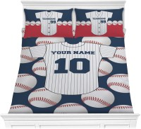 Baseball Jersey Comforter Set - Full / Queen (Personalized ...