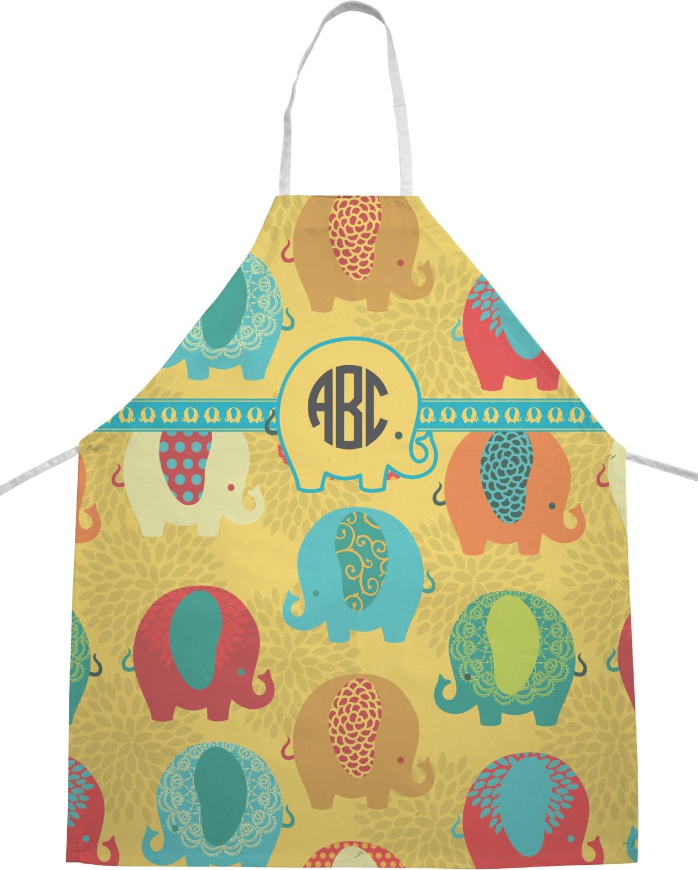 cute kitchen aprons organizing cabinets elephants apron personalized youcustomizeit