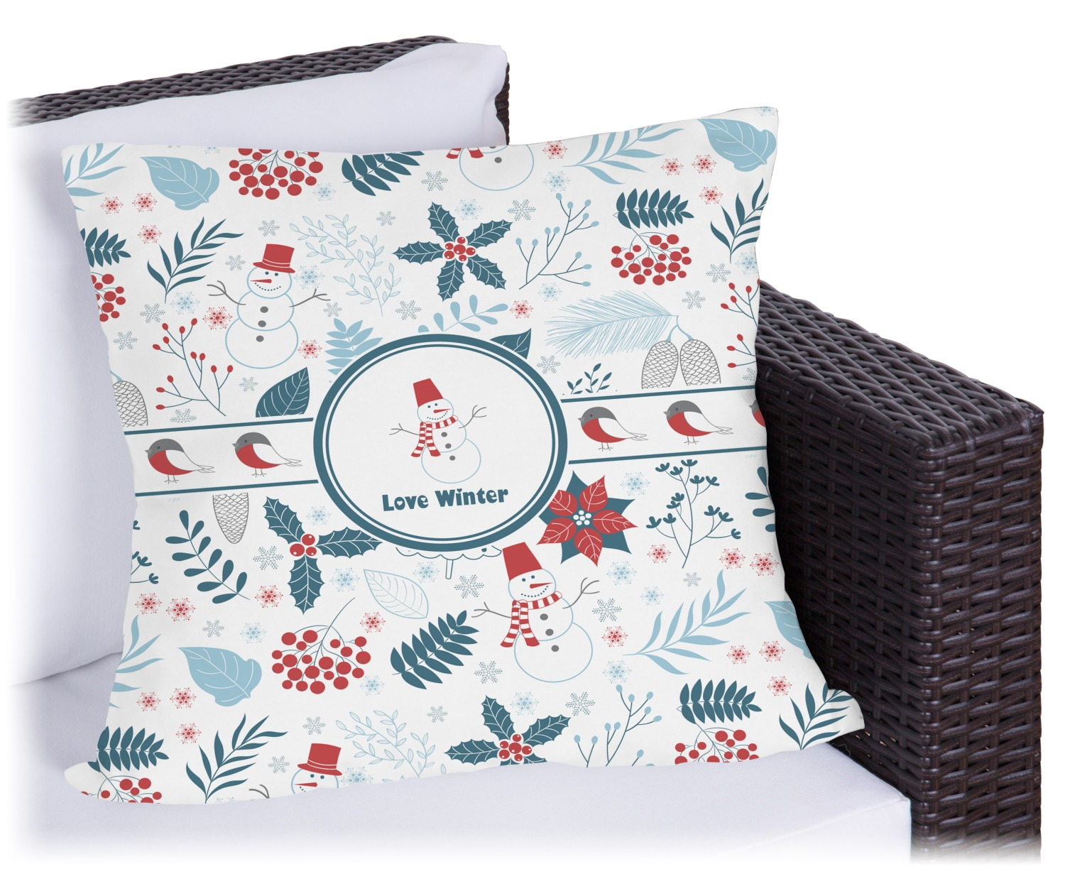 Winter Outdoor Pillow  20 Personalized  You Customize It