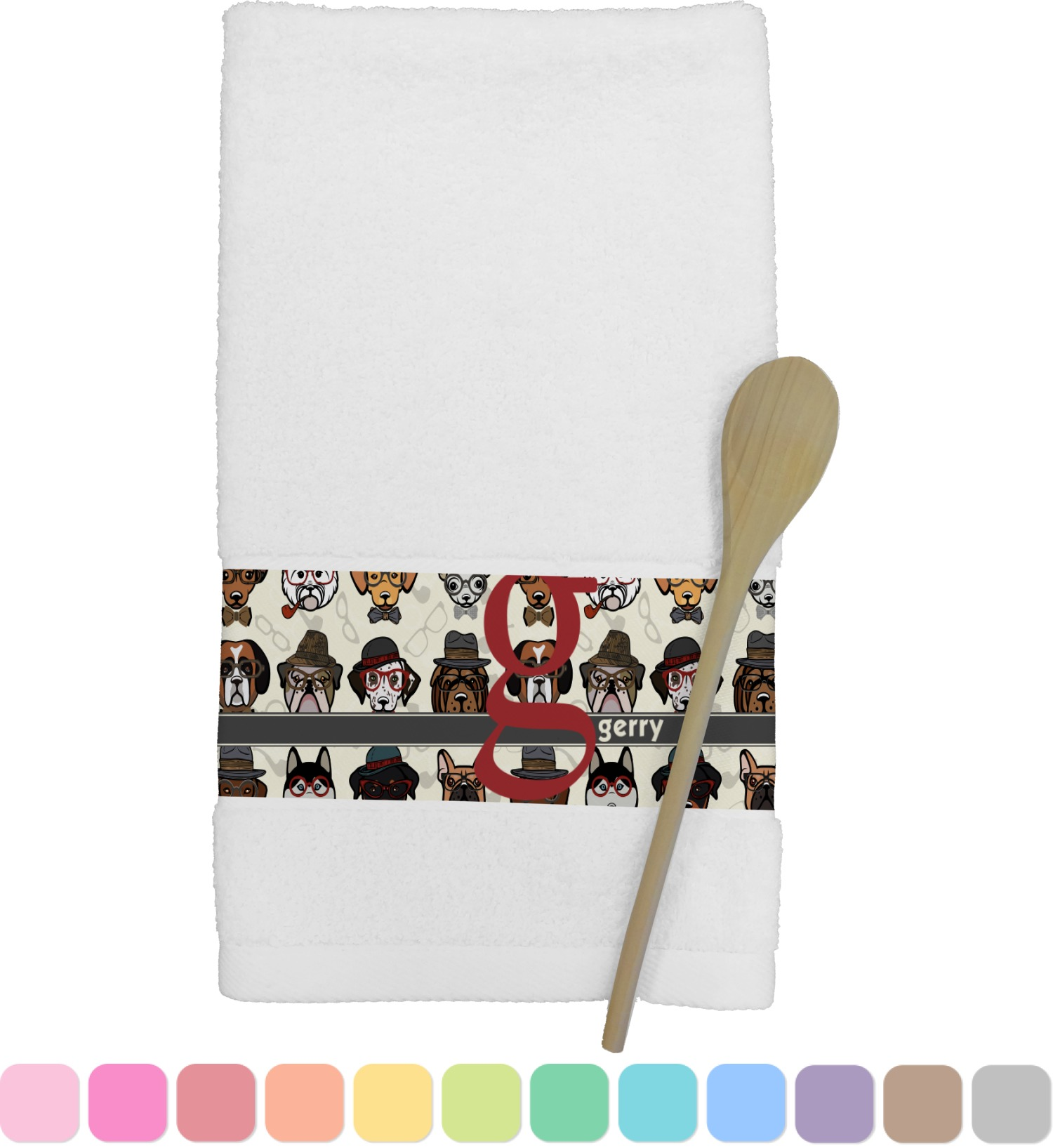 personalized kitchen towels faucet filter system hipster dogs towel youcustomizeit