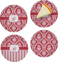 Damask Set of 4 Glass Appetizer / Dessert Plate 8 ...