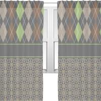 "Argyle & Moroccan Mosaic Sheer Curtains - 60""x60 ..."