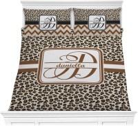 Leopard Print Comforter Set - Full / Queen (Personalized ...