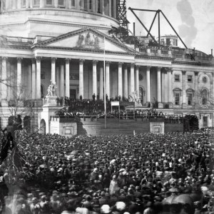 The Inauguration of Abraham Lincoln in 1861