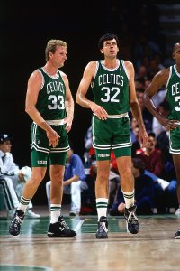 Kevin McHale and Larry Bird