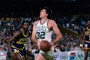 Kevin McHale Drives to the Basket