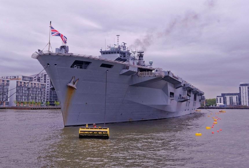 HMS Ocean Alongside Greenwich Pier