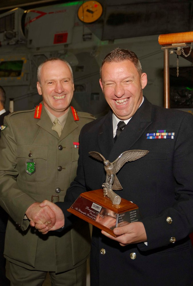 CPO Thomas 'Tam' McDonald - The 2015 Winner of the Photographic Branch's Peregrine Trophy Award