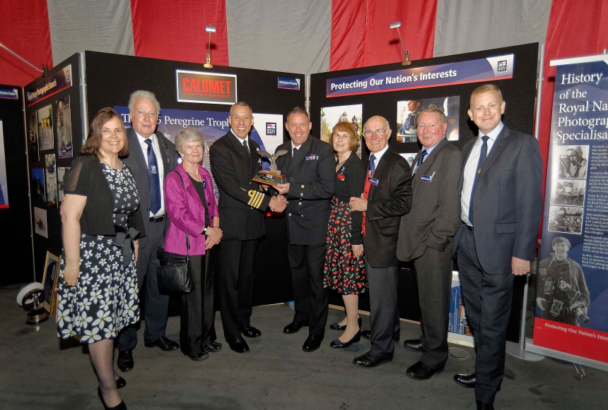 The Captain Of The Royal Navy's Media Department, with Ceremony Guests