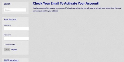 Activate Your Account