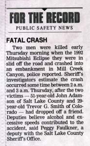 Salt Lake Tribune Article