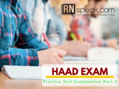 haad practice exam in test center