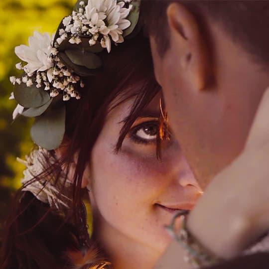 extrait vidéo mariage regard de la mariée
