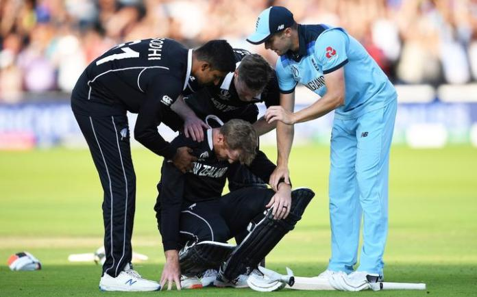 Martin Guptill at the Cricket World Cup final won by England after a super over.