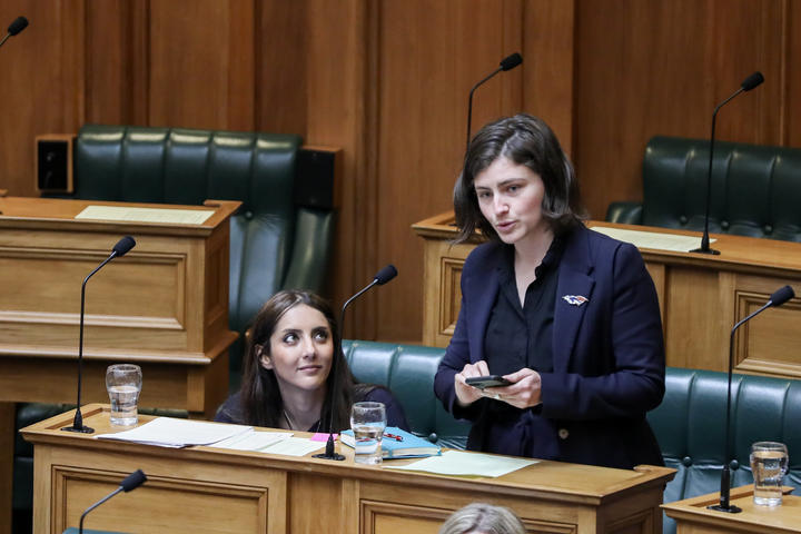 Green MP Chloe Swarbrick asks a supplementary question in the House