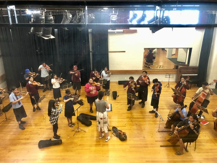 The group rehearse at the Otara Music Centre in Auckland.