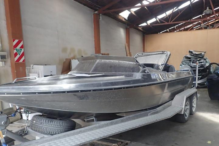 The jet boat involved in a fatal accident on the Hollyford River in Fiordland National Park in March 2019.