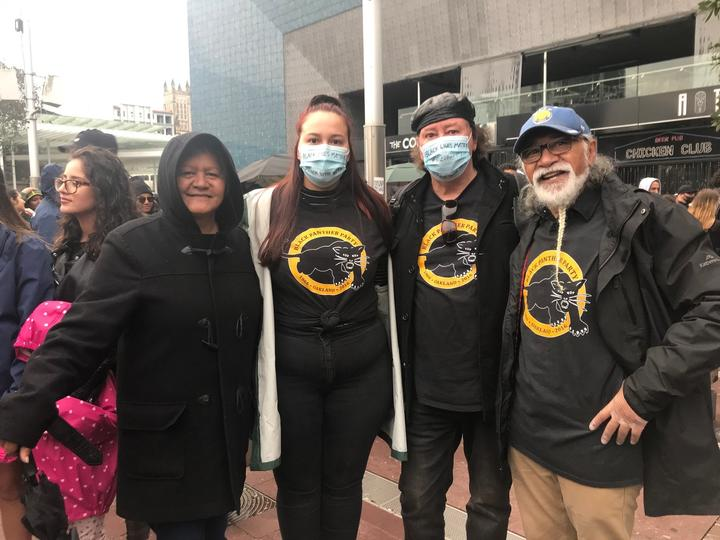 Polynesian Panthers at the #BLM protest in Auckland.