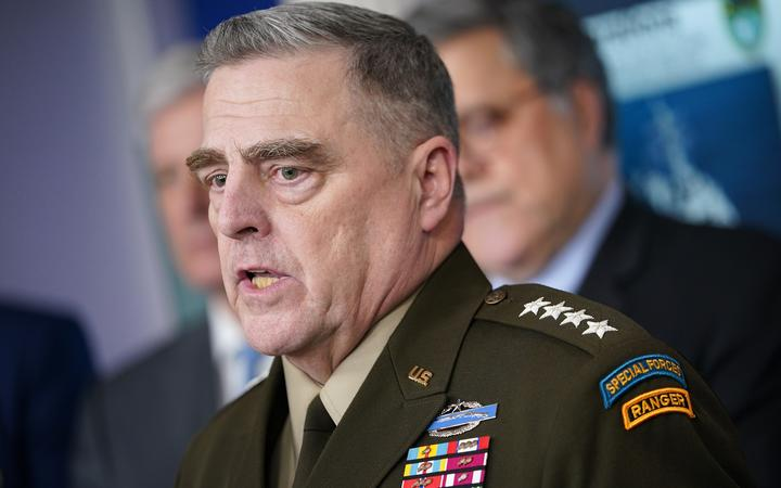 Chairman of the Joint Chiefs of Staff Gen. Mark Milley speaks during the daily briefing on the novel coronavirus, COVID-19, in the Brady Briefing Room at the White House on April 1, 2020, in Washington, DC.