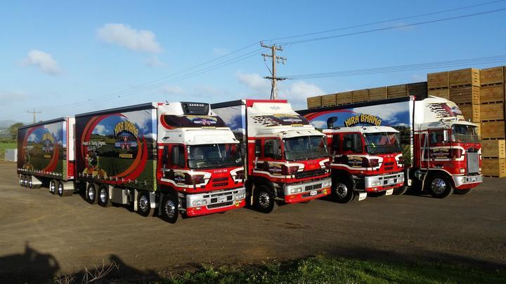 Bhana Family Farms delivery trucks.