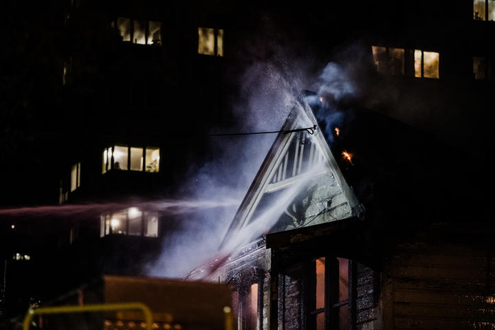Abel Smith Street fire in Wellington.