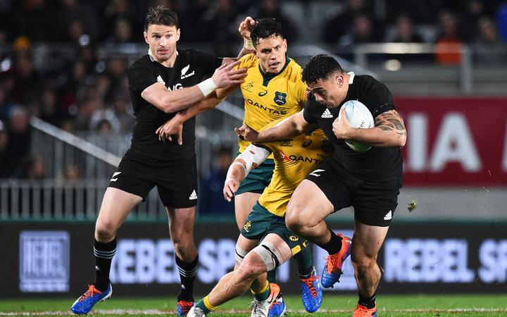 All Blacks player Codie Taylor during the 2nd Bledisloe Cup Rugby game. All Blacks v Australia. Auckland, New Zealand. Saturday 17 August 2019. ©Copyright Photo: Chris Symes / www.photosport.nz