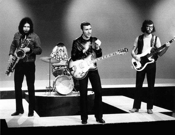 Max Merritt and The Meteors, Adelaide, 1969 L to R: Bob Bertles, Stewart Speer, Max Merritt, Yuk Harrison.
