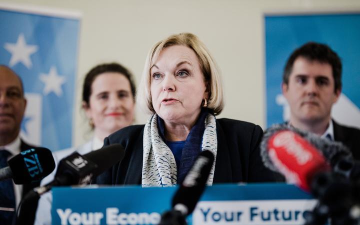 Judith Collins in Wellington