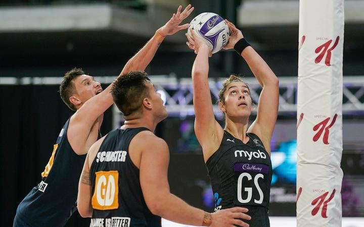 Silver Ferns Maia Wilson. Silver Ferns v NZ Mens, Final, Cadbury Netball Series, Fly Palmy Arena, Palmerston North, New Zealand, Saturday 24 October 2020.