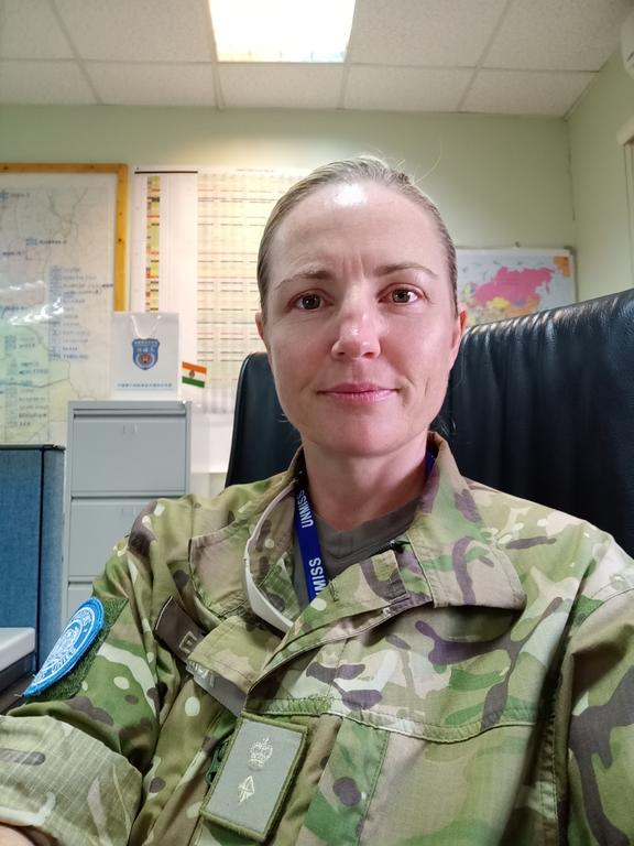 Lieutenant colonel Megan Elmiger in the UN Mission office in South Sudan.