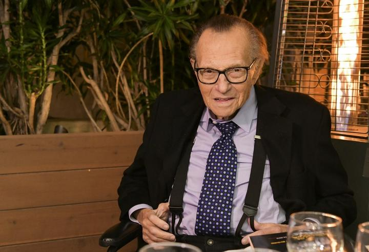 Veteran broadcaster Larry King.