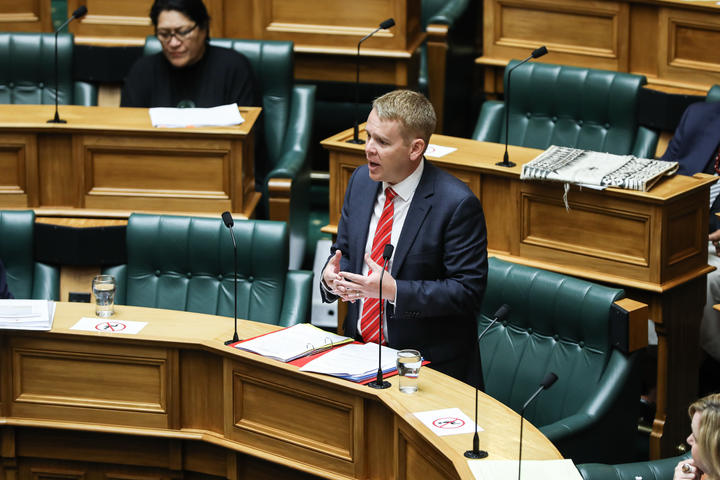 Chris Hipkins answering questions in the House